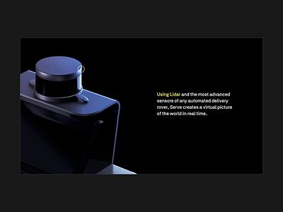 Postmates Lidar Animation postmates jam3 web webdesign animation ux design black ui uiux