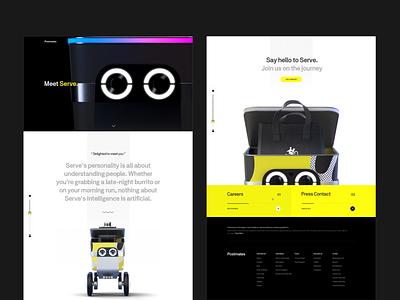 Postmates Serve - Door to door product page ux design black ui webdesign web uiux