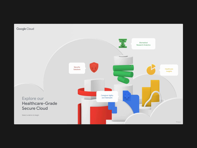 Google Cloud Healthcare jam3 illustration typography 3d design animation ui webdesign web uiux