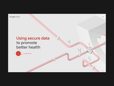 Google Cloud Healthcare - Security jam3 webgl 3d illustration design animation ux ui webdesign web uiux