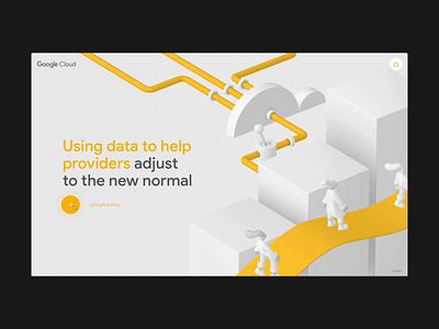 Google Cloud Healthcare - Insights jam3 3d webgl google illustration design animation ux ui web webdesign uiux