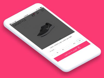 Size Picker brand fashion model product page style shoes product nike iran ecommerce digistyle digikala