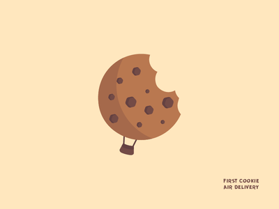 Cookie Air Delivery dailylogochallenge dailylogo logo delivery cookie