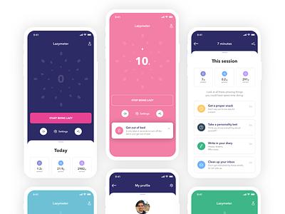 Lazymeter fun timer lazy app  design app
