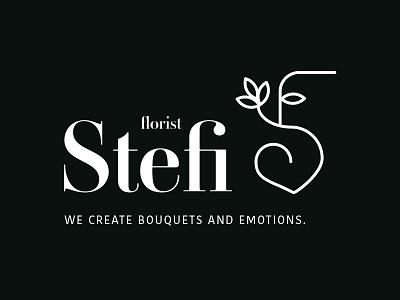 Florist Stefi brand logo bouquets shop flower florist