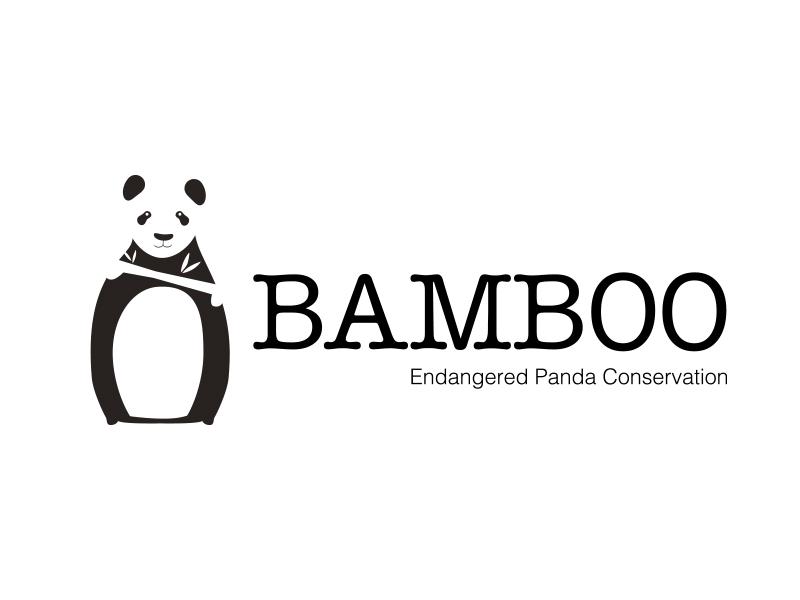 Bamboo daily logo challenge illustration challenge logo daily panda logo nonprofit conservation panda bear endangered panda bamboo endangered panda conservation