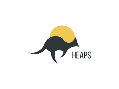 Heap heaps hopo logo kangaroo sunnies dailylogochallange