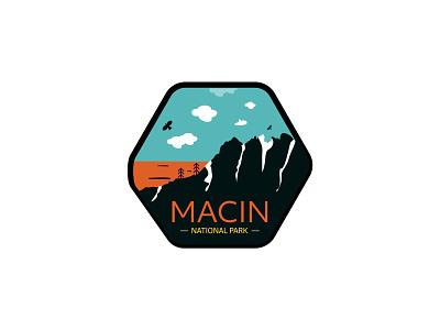 Macin logo illustration park national badge mountain macin dailylogochallange