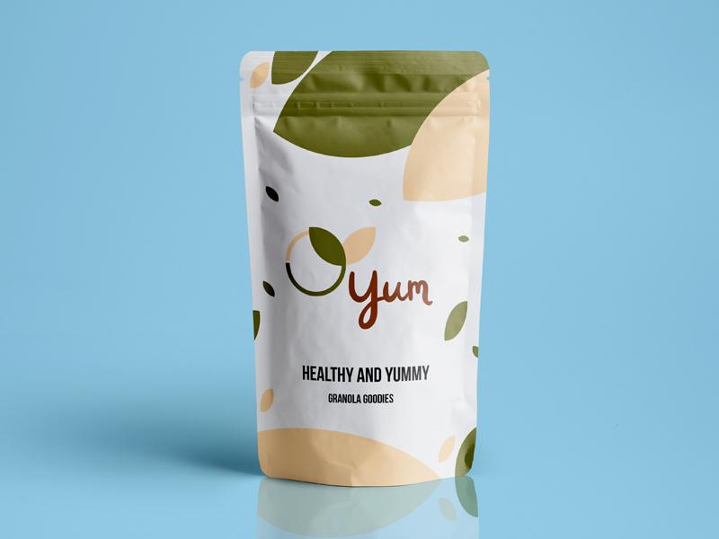 Yum, Day 21 green bio crunch yum cereals dailylogochallange granola