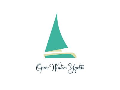 Open Waters Yachts, Day 23 boat yachts logo design dailylogochallange open waters yachts