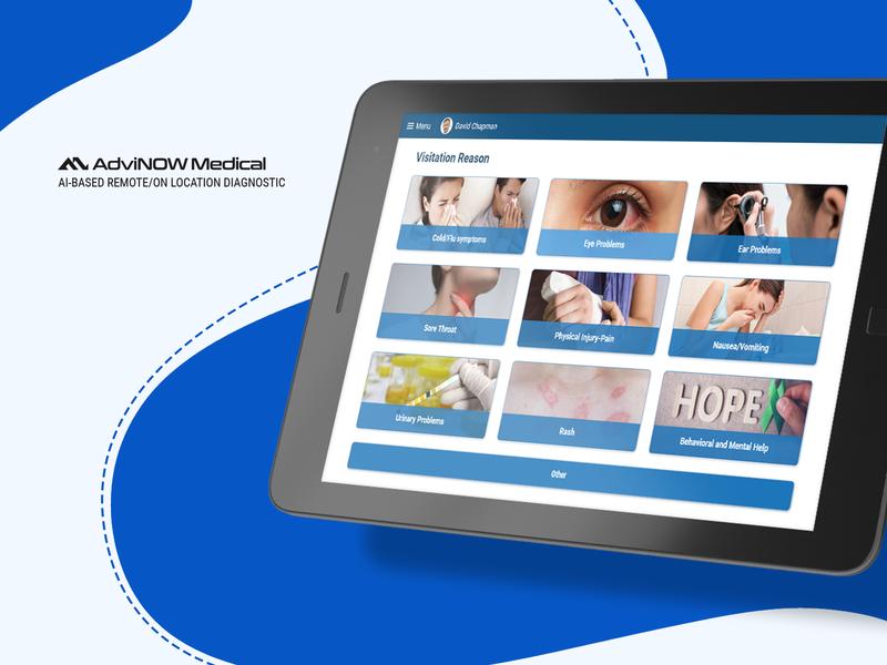 AI-Based Medical Application adobe xd ai medical care medical app