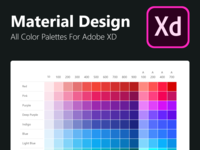 Adobe XD Freebie - All Material Designed Color Palettes color palette material design color palettes material design color set for xd material design pallets material design adobe xd color palettes set