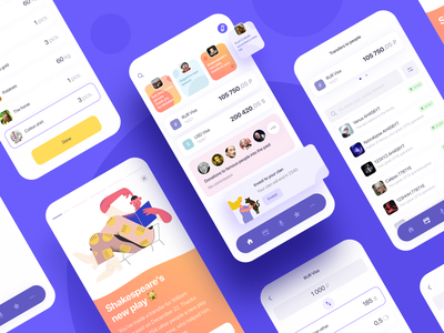 Banking App  Of The Future illustration mobile app mobile mobile design design app design app wallet app wallet ui wallets wallet bank app banking bank financial app credit finance app finance ux ui