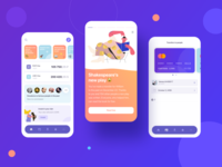 Mobile Banking illustration button banner card stories finance app finance banking bank ux design uiux ux mobile design mobile app mobile gradient trends design ui