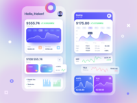 Invest Widgets apple analitycs money chart capital business wallet cards ui mobile trading tesla widget graphic card trade invest app ui design ux