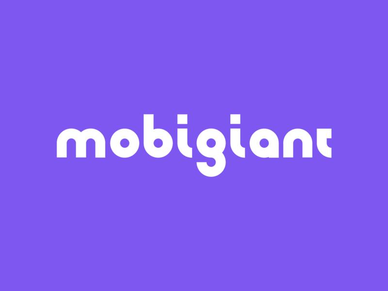 Mobigiant · Logo mark logo design font logotype identity symbol branding logo