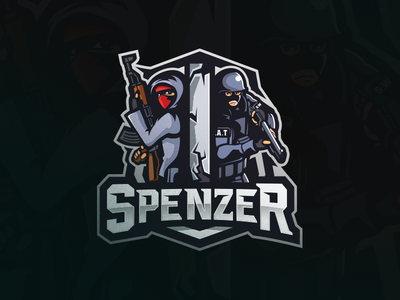 Spenzer [ SELL ] tactical swat terrorist illustration badge emblem logo team sports esports