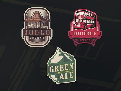 Vintage Project pub taps logo emblem craft brew beer ale vintage retro