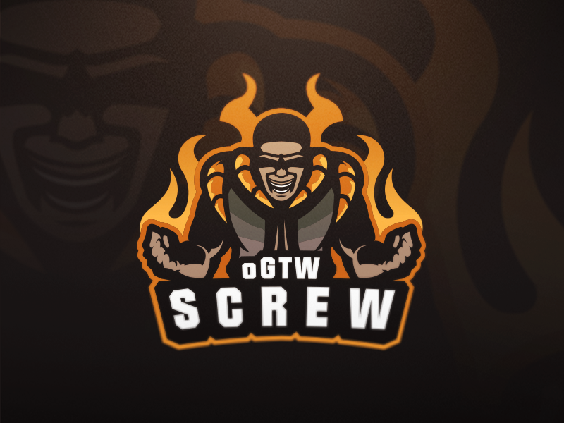 oGTW SCREW badge emblem logo team sports esports