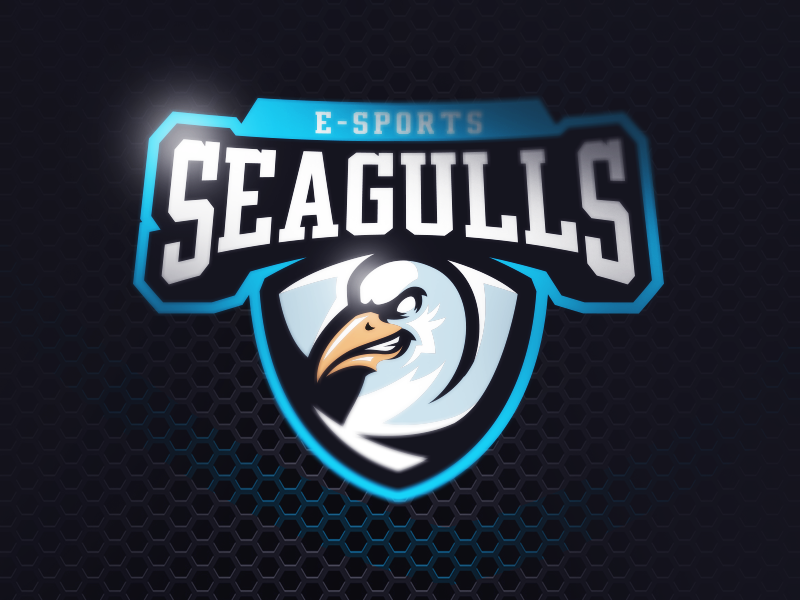 Seagulls E-sports team sports seagulls owl mascot logo hawk esports emblem eagle bird badge