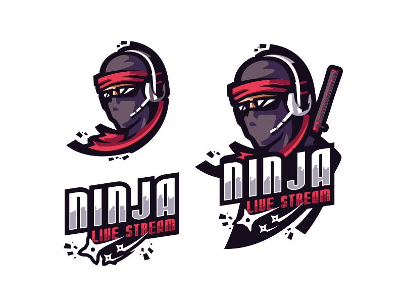 [ SELL ] Ninja Live Stream samurai shinobi kunai shuriken ninja fortnite logo games gaming team sports esports