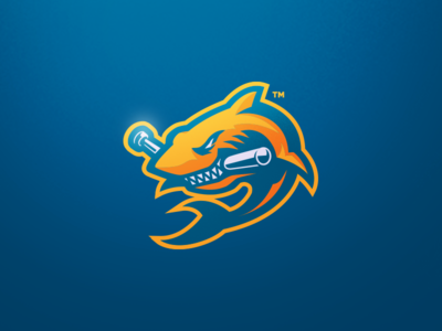 [ SOLD ] Shark brand fish aqua shark tank shark baseball typography font graphics game games mascot gaming badge emblem team logo sports esports