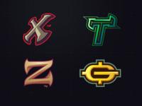 4 Initial Logo E Sports Team