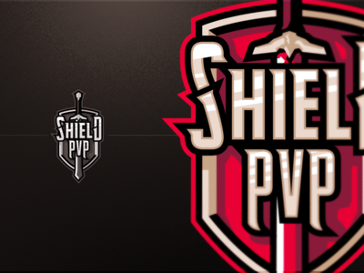 Shield PVP Badge Logo viking sword pvp shield game design vector knight cancer illustration graphics games mascot gaming badge emblem team logo sports esports