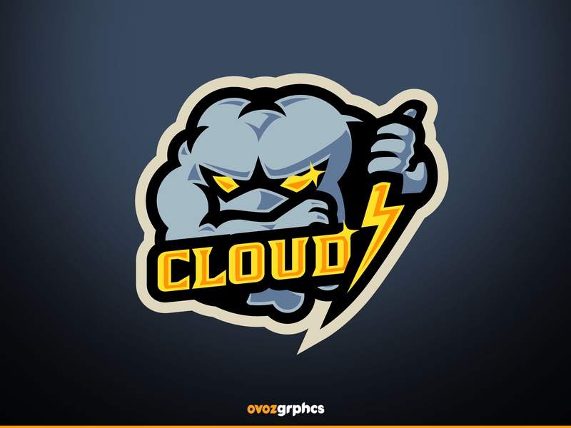 [ SELL ] Cloud 7 clouds football baseball game design basketball e-sports templates template graphics games mascot gaming badge emblem team logo sports esports