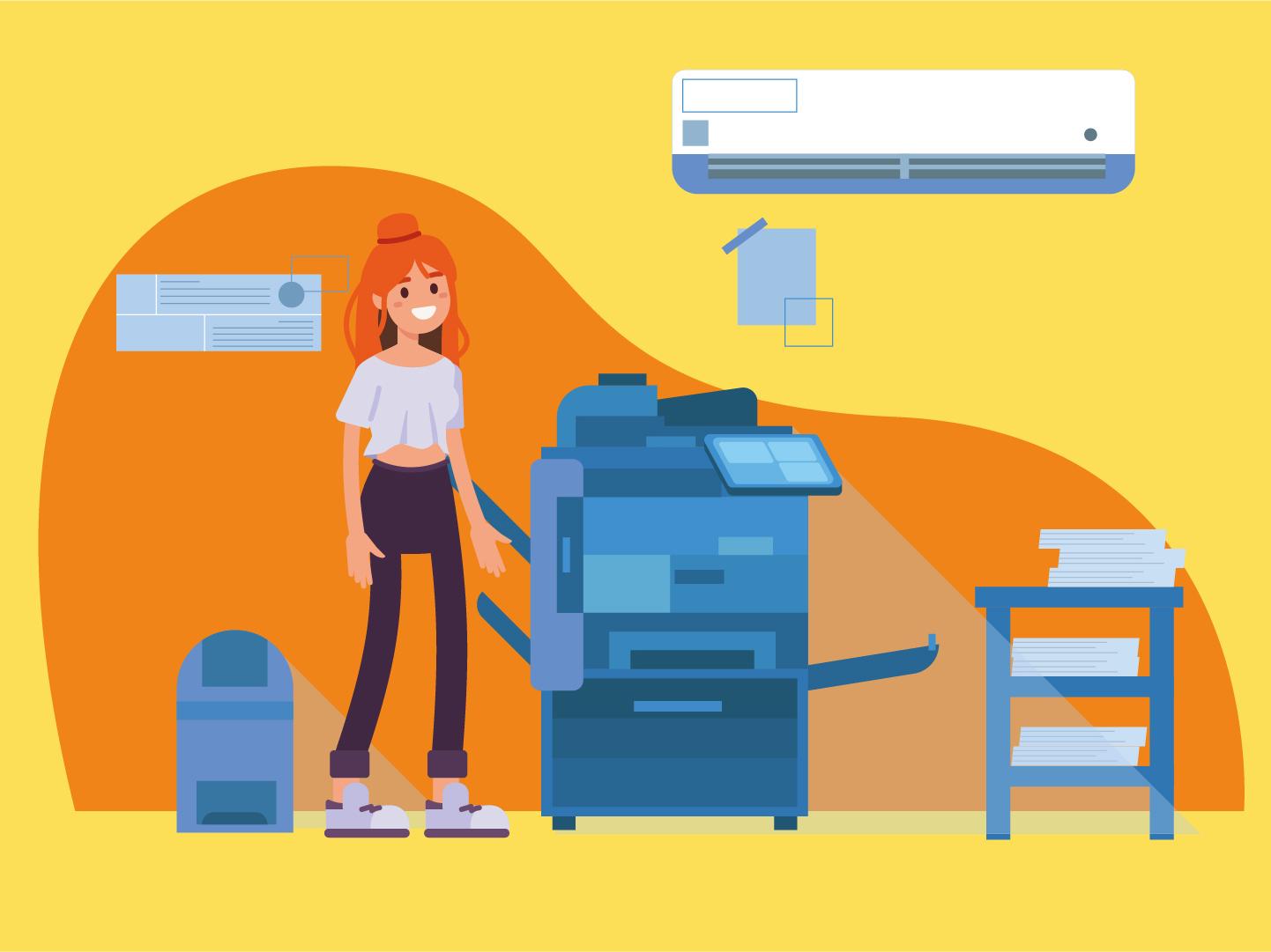 CopyGo animation vector design illustration