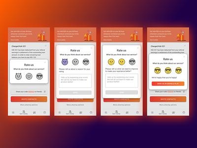 Rate Us android app flaticon clean app design vector mobile illustration app ux ui design