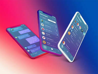 Messenger (iPhoneX) - Mobile Application Design (UI/UX) ux ui messenger mobile ios list interactions clean iphonex app