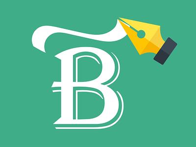 B&PenTool vector pen tool illustration typography letter b letter
