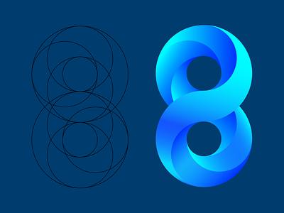 Geometry Eight typography logo vector geometry eight illustrated logo illustrator illustration