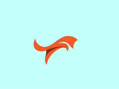 Fox flat illustrator fox logo vector illustration design