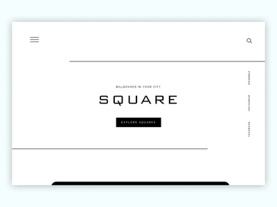 Square typography daily simple uipractice slide white clean uidesign ui design