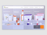 Screen - Website for a pharmacological company