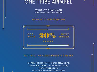 Thank You Note promo promotion coupon retail fashion thai branding flyer thank you