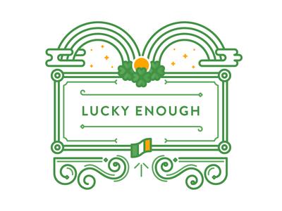 WIP –Lucky Enough double rainbow wip lucky irish ireland rainbow shamrock gold ornate illustration st. patricks day four leaf clover