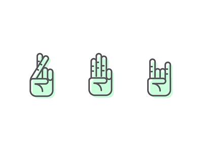 Hand Gestures never have i ever fingers crossed rock on lie hands hand illustration icon minimal emoticon emoji