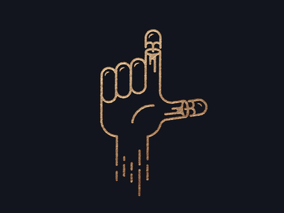 Live Fast icon illustration minimal outline stroke speed fast bullet loser hand