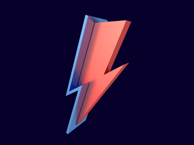 David Bowie lightning bolt cinema 4d david bowie 3d lightning tribute bowie