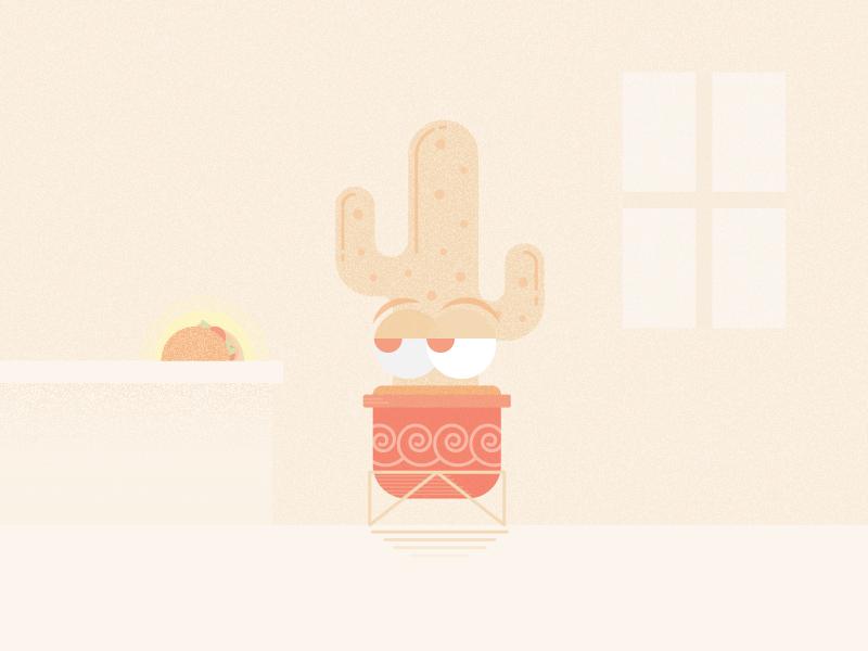 Eye on the Prize cinco de mayo texture vector minimal flat illustration western desert taco plant cactus weeklyillochallenge