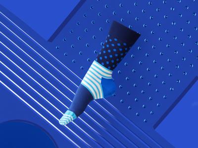 Happy Socks still life cinema 4d happy socks geometric photoshoot 3d editorial fashion apparel socks