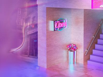 adidas cinema 4d adidas originals 3d surreal abstract minimal pastel city neon adidas wip