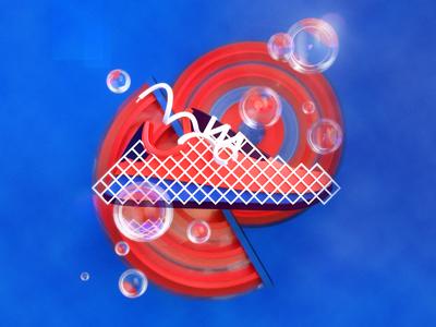 Adidas Deerupt blue orange geometric 3d cinema 4d illustration adidas shoe fashion sneaker
