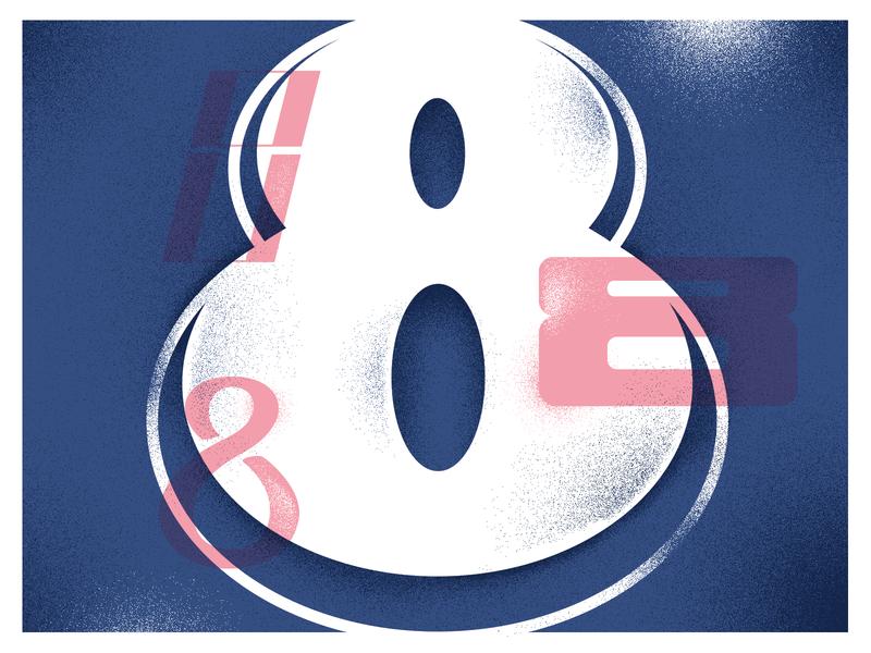 8 eight 8 typedesign type illustration 36daysoftype