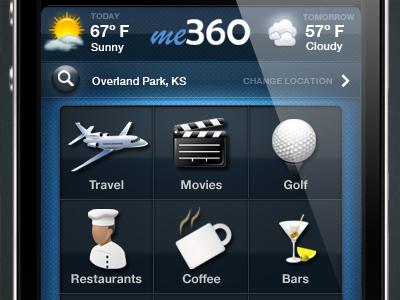 me360 - iPhone App iphone main screen me360