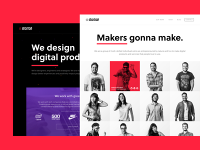Startaê Website has a new look! digital product product design design studio landing page startup ui ux website new team