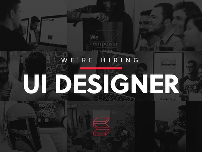 We're Hiring! job maker team designer visual ux ui hiring
